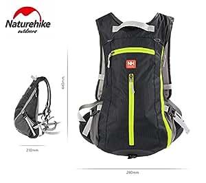 Naturehike NH15C001-B Unisex Outdoor Cycling Bag, 15L, Black