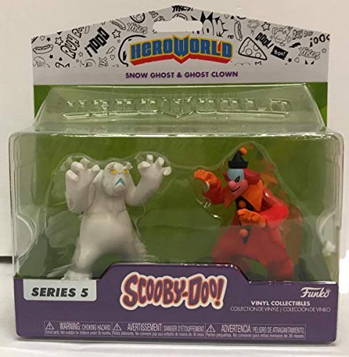 HEROWORLD Snow Ghost and Ghost Clown Scooby-Doo Vinyl Figure Exclusive, ()