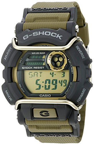 Casio Men's G-Shock Quartz Watch with Resin Strap, Green, 55 (Model: GD400-9CR)