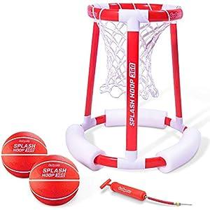 GoSports Splash Hoop 360 Floating Pool Basketball Game | Includes Hoop, 2 Balls and Pump
