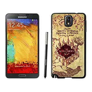 BINGO top-selling Harry Potter Marauders Map Samsung Galaxy Note 3 Case Black Cover