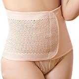 Goege Elastic Breathable Postpartum Postnatal Recoery Support Girdle Belt Post Pregnancy Belly Waist slimming shaper Wrapper Band Abdomen Abdominal Binder for Women and Maternity,Nude(Size:XL)