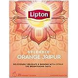 Lipton Orange Jaipur Pyramid Luxury Tea Bags with Real Tea Leaves 4 Boxes IMPORTED