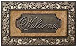 A1 Home Collections Rubber and Coir Dirt Trapper Heavy Weight Large Welcome Doormat, 23' X 38'