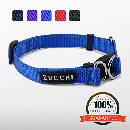 (ZUCCHI Small Dog Collar, Reflective and Comfy, Neck 12-16