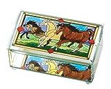 Horses Glass Trinket Box
