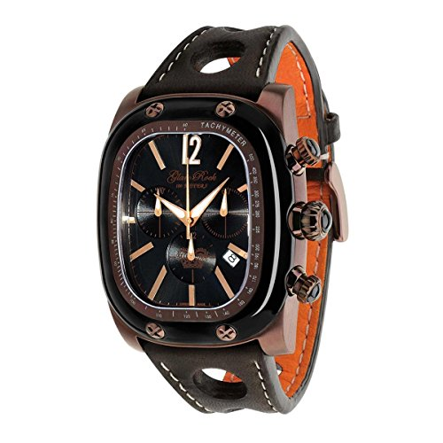 Glam Rock Unisex GR70105 Gulfstream Collection Chronograph Brown Leather Watch