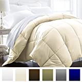 Alternative Comforter - Beckham Hotel Collection 1200 Series - Lightweight - Luxury Goose Down Alternative Comforter - Hotel Quality Comforter and Hypoallergenic  -Full/Queen - Ivory