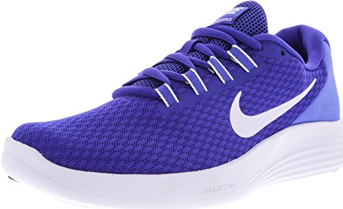 NIKE Womens LunarConverge Paramount Blue/White Ankle-High Running Shoe - 9.5M 5BE0jQB