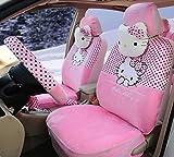 1 Set Hello Kitty Car Seat Covers Car Steering Wheel Cove...