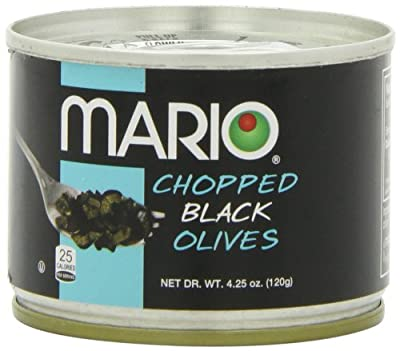 Mario Camacho Chopped Black Olives, 4.25-Ounce Cans (Pack of 8) by Mario Camacho