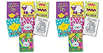 Amazon.com: 72 pc Easter fun and games mini activity coloring books ...