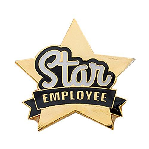 Set of 100 Lapel Pins - Star Employee