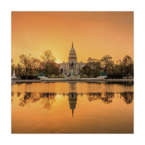 Polyester Square Tablecloth,United States,Washington DC American Capital City