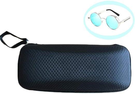 LAMEIDA Estuche para Gafas con Cremallera Resistente Funda de Gafas Rígidas Impermeable para Gafas de Sol con Cremallera Almacenaje Lente Suave Sunglasses Case-Azul Negro Café Naranja: Amazon.es: Hogar