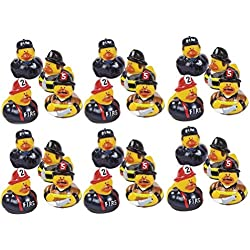 Lot Of 24 Firefighter Fireman Fire Fighter Hero Rubber Ducks Duckys