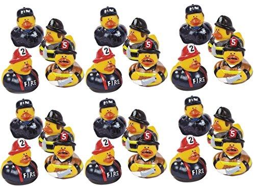 - Lot Of 24 Firefighter Fireman Fire Fighter Hero Rubber Ducks Duckys