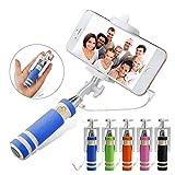 ONX3 (Blue) BLU Win HD LTE Universal Adjustable Mini Selfie Stick Pocket Sized Monopod Built-in Remote Shutter