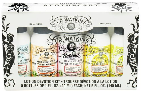 JR Watkins - Naturals Apothecary Lotion Devotion Kit - 5 Piece(s) (Watkins Rejuvenating Foot Cream)