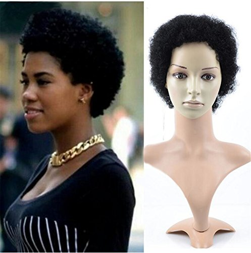 ATOZWIG Short Wigs for Black Women Black Short Synthetic Wigs Cosplay Perruque Women Afro Kinky Curly Wigs by ATOZWIG (Image #1)