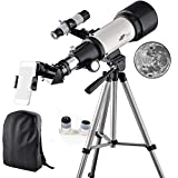 Telescope 70mm Apeture 400mm AZ Refractor Scope- Travel Scope for Kids...