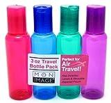 Paris Presents Translucent Travel Bottles 3 oz As