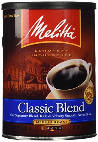 Melitta Classic Blend Medium Roast Ground Coffee, 11-Ounce (Pack Of (Classic Blend Coffee)