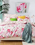 ZQ Personality style I Love You, High-end Full Cotton Reactive Printing Pattern Cartoon Bedding Set 4PC, Queen/ Full Size Quality Goods , queen