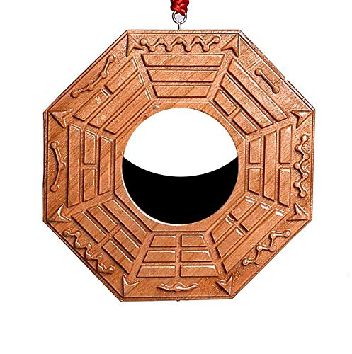 Laogg Bagua Mirror Feng Shui One Concave Mirror for Protection Against Passive Negative Energy One Convex Mirror for Protection Against Active Harmful Energy