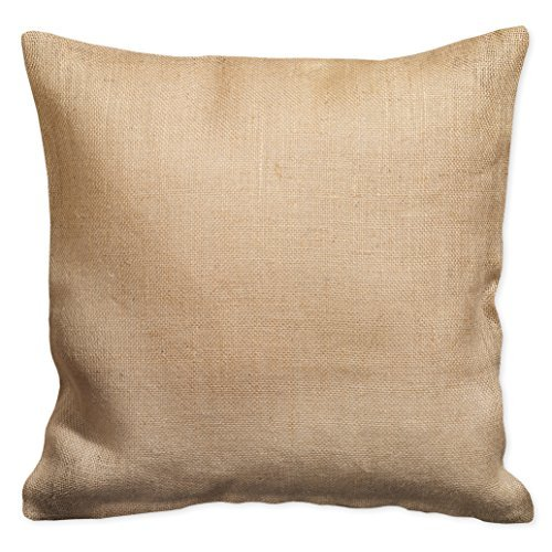 Plain Coordinating Accent 16 x 16 Burlap Decorative Throw Pillow
