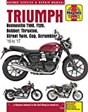 Triumph 900 & 1200, 16-'17: Covers models with water-cooled engines