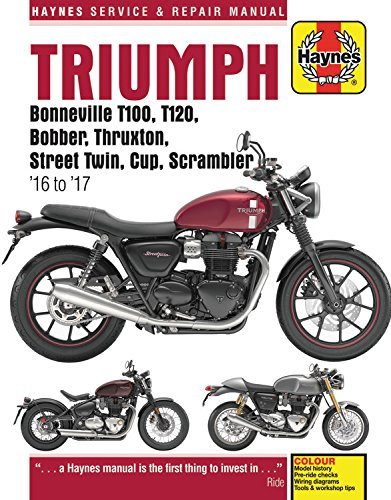 Triumph 900 & 1200, '16-'17: Covers models with water-cooled engines (Haynes Powersport)