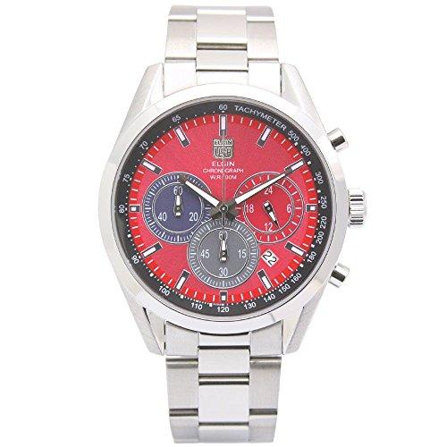 - ELGIN Chronograph Quartz Men's Watch FK1411S-R Red