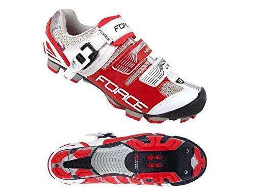 Force bicicleta guantes MTB Hard 9406239 blanco y rojo