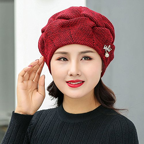 NWEC NEWC The Winter Hat Female Knitting Wool Cap and Cashmere Earmuffs Thick Warm Hair Cap Ray Limpets.