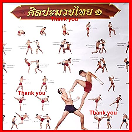 Other Combat Sport Supplies Sporting Goods Massage Oil Of Thailand Poster Training Teaching Tactic Chart Printed