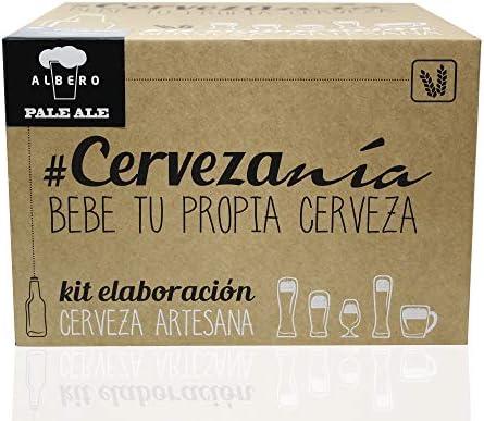 Cervezanía - Kit de elaboración de cerveza rubia Pale Ale | 5 litros cerveza en casa | Lúpulos frescos: Amazon.es: Alimentación y bebidas