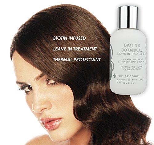 Tratamiento acondicionador para el crecimiento del cabello con vitamina Biotin (alta potencia) Protector térmico Biotin, suero anti peinado para la pérdida ...