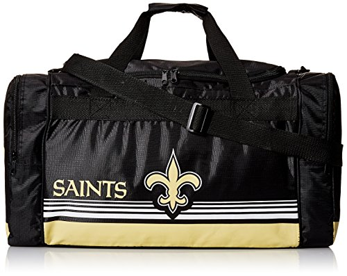New Orleans Saints Medium Striped Core Duffle Bag - New Orleans Saints Bag