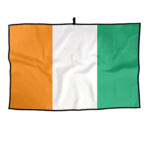 - PIN Flag of Ivory Coast Golf Towel Sports Towel Player Towel 23.6x15 Inches