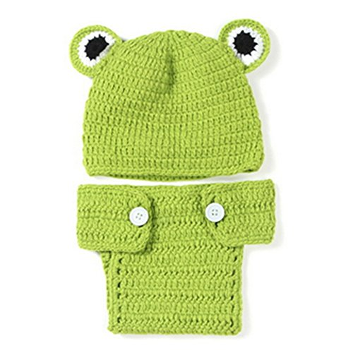 [TOOGOO(R) Kids Handmade newborn Baby infant boy prince Girl Costume Animal Beanie photography Props Set Crochet Cloth knitted caps &] (Prince Frog Costumes)