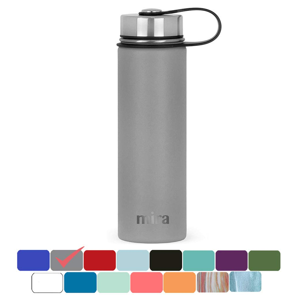 MIRA Stainless Steel Vacuum Insulated Wide Mouth Water Bottle | Thermos Flask Keeps Water Stay Cold for 24 Hours, Hot for 12 Hours | Metal Bottle BPA Free Cap MIRA Brands