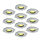 10 Spot Light Trim Medallions 6'' ID Urethane White Set Of 10   Renovator's Supply