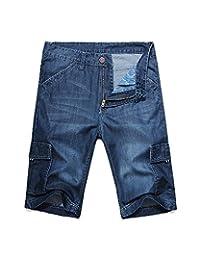 Men's Loose Fit Big & Tall Jean Cargo Shorts