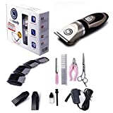 Pet Grooming Clipper Set: Best Professional Cordless Rechargeable Dog Hair Clipper / Quiet w/ Sturdy Dog Clipper Blade 4 Comb Attachments 4 Grooming Tools/ Great Value Pet Grooming Supplies
