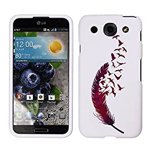 Fincibo (TM) LG Optimus G Pro E980 Protector Hard Plastic Snap On Cover Case - Birds of a feather, Front And Back