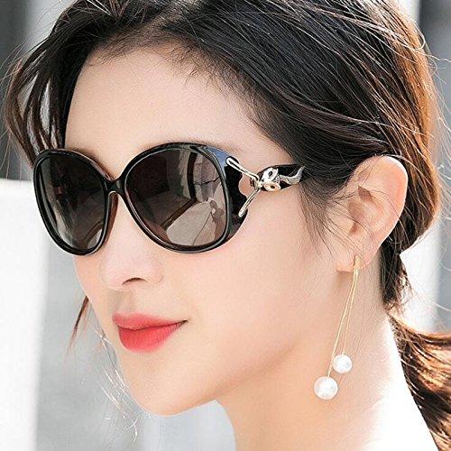 Sun polarizadas Gafas Visor sol de Protección excursionista de conducción de de UV400 sol Nuevas aire al Regalo de las casuales libre sol mujeres estrella la Protección de Negro UV gafas Gafas Personalid de 56xBn5w