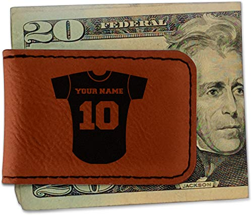 Baseball Jersey Leatherette Magnetic Money Clip - Single Sided ()