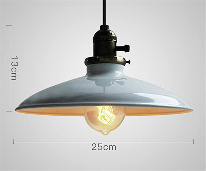Shengye stile rustico plafoniera lampada a sospensione industrial