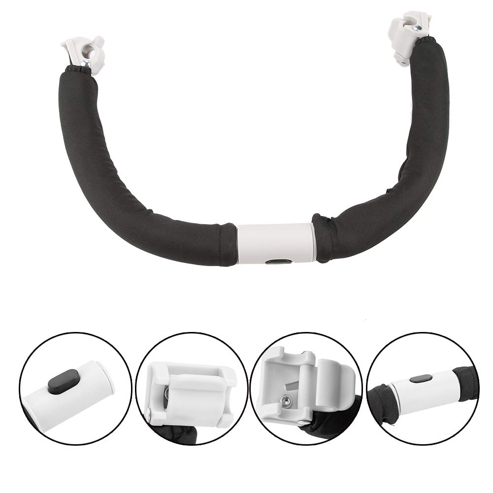 Haokaini Adjustable Baby Stroller Handle, Generic Handlebar Armrest, Safe Bumper Bar for Baby Stroller Accessories Hand Tools by Haokaini
